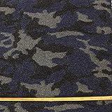 kawenSTOFFE Wollflausch Camouflage blau grau dick gekochte