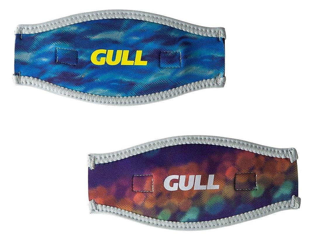 絶望ルビー有毒なGULL マスクバンドカバーワイド GP-7035A (エレカジブルー×グラムブラウン)