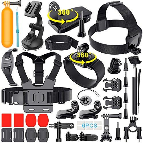 Erligpowht 36-in-1 accessori per GoPro Hero 5/4/3+/3/2/1 SJCAM SJ4000 SJ5000 SJ6000 Lightdow/Xiaomi Yi/WiMiUS/DBPOWER / Camera APEMAN/Camera Campark