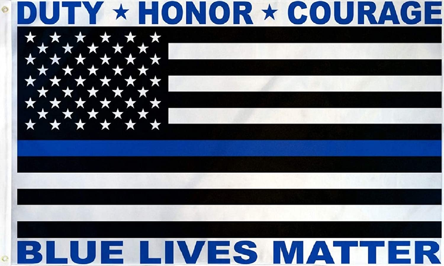 Police Blue Lives Max 88% OFF Matter USA Flag Banner 5' Outdoor Jacksonville Mall 3' Indoor X