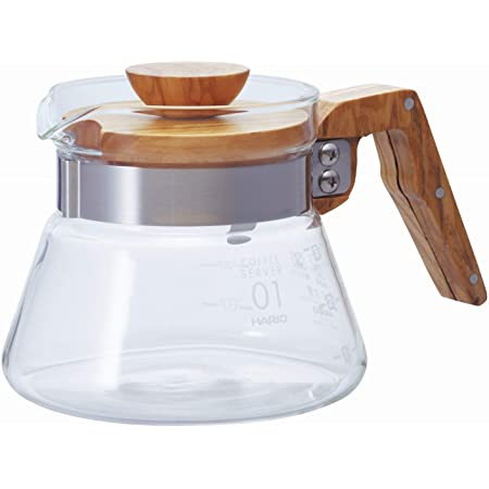 HARIO (ハリオ) コーヒーサーバー オリーブウッド 400ml VCWN-40-OV