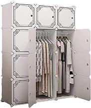 Wardrobe Storage Cabinet Simple Plastic Wardrobe Assembly Wardrobe Storage Cabinet Modern Save Space Clothing Storage Cabi...