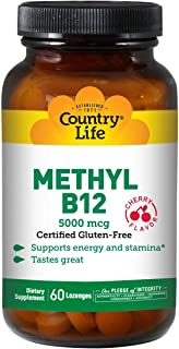 Sponsored Ad - Country Life Methyl B-12 Capsules, 5000 Mcg, 60 Count