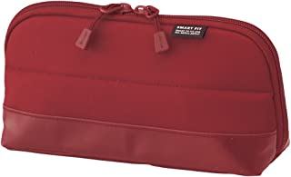 """LIHIT LAB. Pen Case (Pencil Case), Water & Stain Repellent, Red, 8"""" x 4'' (A7688-3)"""
