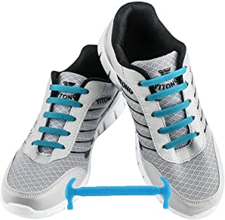 51de4d42d094 WELKOO® Lacci elastici in silicone che non vanno allacciati, impermeabili,  adatti a scarpe