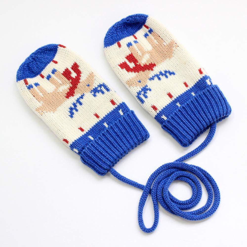 SUNHAO Guantes para niños Calor de Invierno Hilo Tejido algodón con manopla.: Amazon.es: Jardín