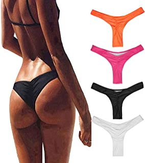 Bestag Women's Hot Summer Brazilian Beachwear Bikini Bottom Thong Swimwear
