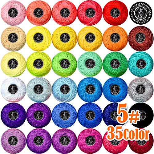 35colors size5 Crochet Thread