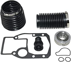 Marine Transom Seal Repair Kit, For Volvo Penta For OMC 1986 and Later, with Gimbal Bearing and Bellows with Clamp, Outdrive Gasket