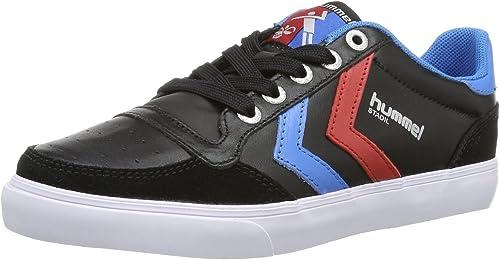 Hummel Slimmer Stadil Faible Faible Noir Bleu Rouge Cuir Hommes Chaussures Basket Bottes  les ventes chaudes