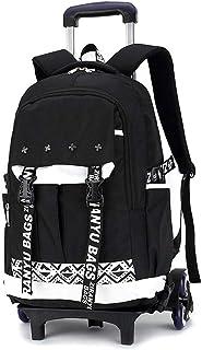 Noble Package Kids Backpack Trolley Bag School Bag Super Lightweight Waterproof Children's Backpack Rolling Backpack (Color : White)