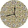コーンにカラフルなフルーティーなスクープと反復的な甘い夏のデザートパターン,学校の教室25cmの直径の部屋の装飾のための壁掛け時計の屋内円形の無声かわいいデジタルオフィス