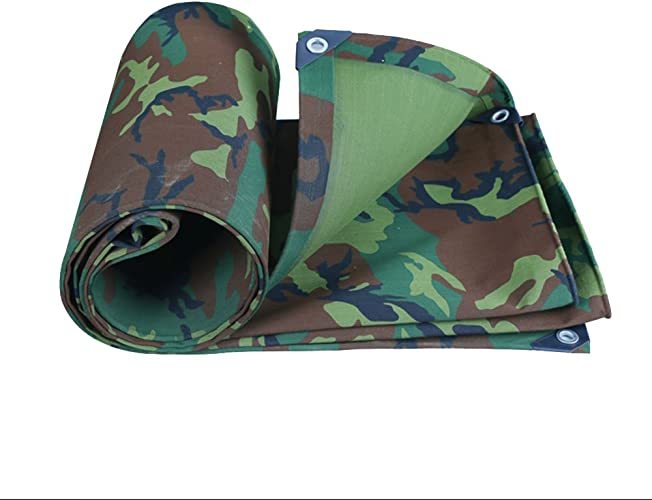 Qing MEI Toile De Camouflage Militaire épais Tissu Imperméable Imperméable Crème Solaire Bache Canopée Huile Canopée Tente Tissu De Pluie A+ (Taille   4  5m)