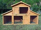 Zoopplier Kaninchenstall Kleintierhaus Hasenstall Kleintierkäfig Nr. 01'Möhrchen mit Seitenflügeln