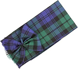 Kilts Wi Hae Scottish 100% Wool Tartan Ladies Mini Sash with Rosette - Blackwatch