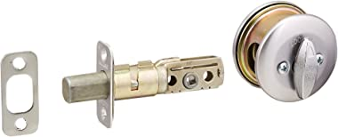 Kwikset 667 Single-Sided Deadbolt w/Exterior Plate in Satin Chrome