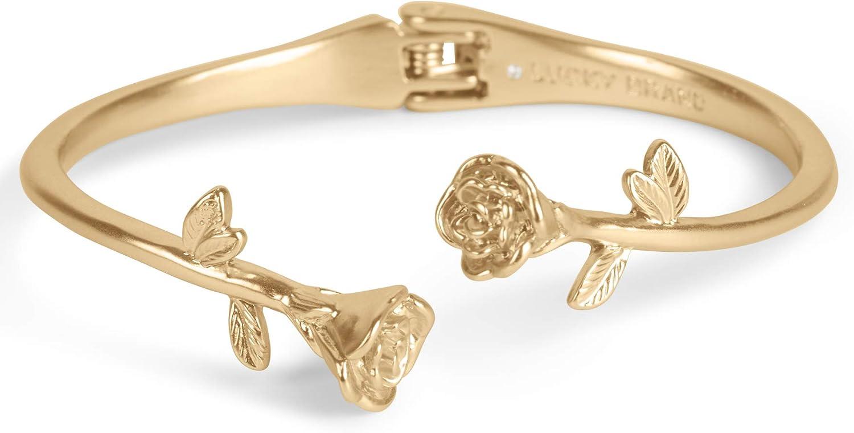 Lucky Brand Rose Hinge Cuff Bracelet, Gold