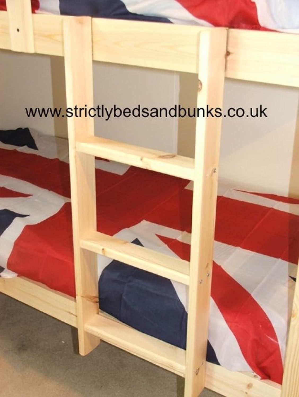Strictlybeds- Pine Bunkbed Ladder - Natural Hookover Bunk Ladder