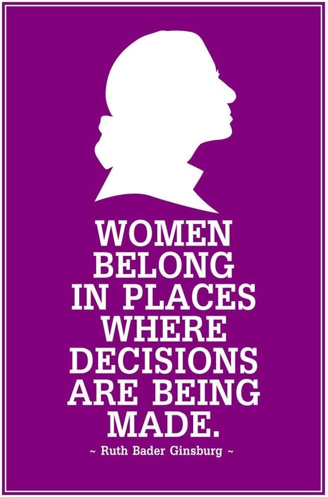 Poster セール特価品 Foundry Ruth Bader 買い物 Ginsburg Where Belong Women Decisions