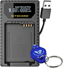 Nitecore ULQ Digital USB Travel Charger for Leica BP-DC12 Batteries with Lumen Tactical LED Keychain Flashlight - Compatible with Leica Q (Typ 116), V-Lux (Type 114), V-Lux 4 Series Cameras