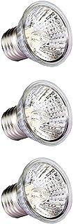 Balacoo 3PCS Basking Spot Lamp Full Spectrum Sun Lamp Sunbathe Reptile Heating Light Bulb E27 for Reptile Amphibian Lizard...