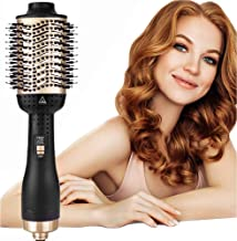 AU Plug 5 in 1 Upgrade Hot Air Brush, Hair Dryer Brush, One-Step Hair Dryer & Volumizer, Negative Ion Portable Air Hair Brush, Low Noise Blow Dryer Brush,Professional for All Hot Air Styler