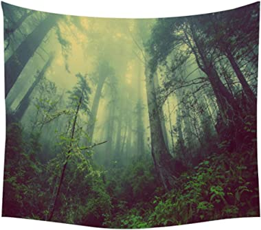 YIERJIU Plante Nature Tapisserie Arbre de Vie Tapisserie Tapisserie Murale tenture Murale Arbres Boho décor personnalisé Tapi
