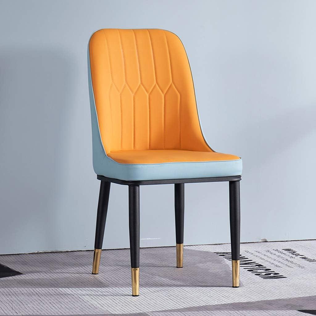 Chaise WGZ de Salle, de Bureau Simple, créative Dossier, Loisirs, Maison Adulte de Salle Simple (Color : Brownish Orange) Blue-orange
