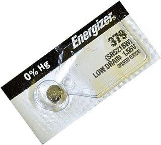 Energizer Pile bouton 379 à l'oxyde d'argent pour montre 1,55 V Remplace SR521SW
