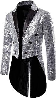 Pailletten Jas Mannen Tuxedo Punk Stoom Gothic Jas Vest Performance Jacket