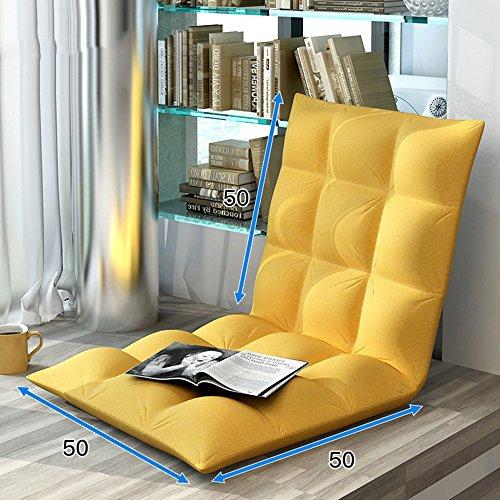 Fauteuils inclinables Feifei Canapé Chaise Paresseux Canapé Lit Pliant Canapé Chaise Paresseuse 6 Réglable Pad Pliable Pliant (Couleur : Lemon Yellow)