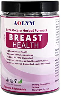 AOLYM Breast-Care Herbal Formula, Breast Health Supplement for Women, PMSRelief, Pre-Menstrual Syndrome, Natural Ingredie...