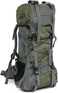 Trekking Bag Hiking Tactical Backpack Waterproof 60L Large Capicity Military Green for Outdoor Camping Fishing Backpacking Mountaineering Traveling Climbing Hunting