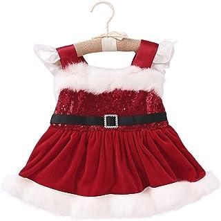 Baby Kids Girls Dress Long Sleeve Ruffle Hem Princess Sundress Casual Birthday Christmas Outfit
