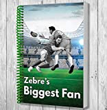 Zebre's Biggest Fan A5 Rugby Notebook / Notepad / Drawing Pad