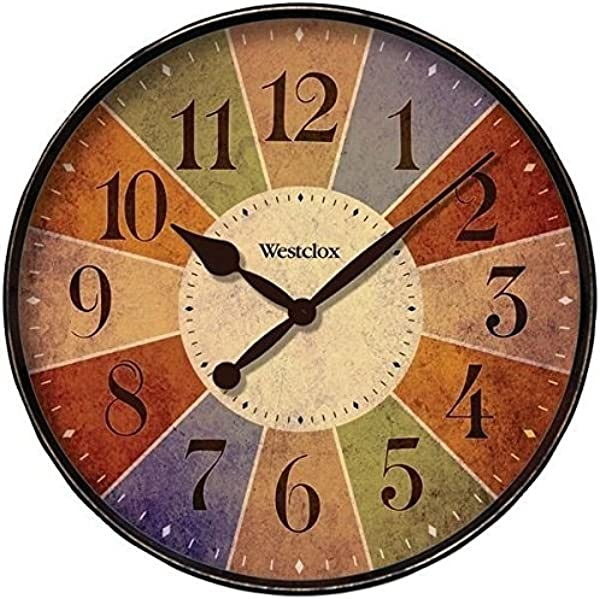 Westclox 32897 12 Round Multicolor Analog Wall Clock