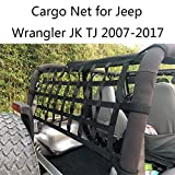JOYTUTUS Fits Jeep Wrangler Cargo Net for JK TJ 1997 to 2018 UTVs