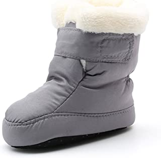 Kuner Newborn Baby Boys and Girls Waterproof Winter Warm Snow Boots Crib Shoes