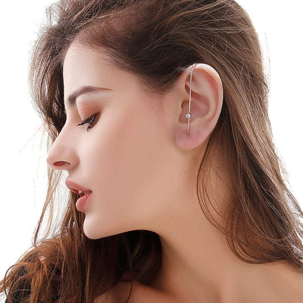 Ear Wrap Crawler Hook Earrings Sash Ear Needles Around The Auricle Jewelry Clip Ear Cuff Earrings for Women and Girls