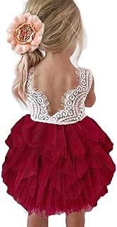 Backless A-line Lace Back Flower Girl Dress