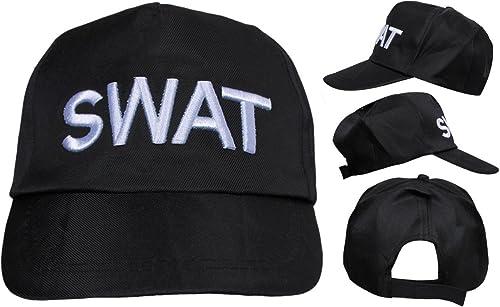 Erwachsene SWAT Hut Kostüm verstellbar Polizei Baseball Kappe Milit Security Zubeh (Multiple verfügbar) - PACK OF 24