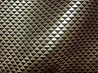 京都西陣織・金襴 生地 鱗文(黒・金) 50cm単位 切り売り 和風 生地 和柄 布地 はぎれ 金らん
