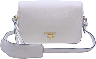 Womens Vitello Phenix Shoulder Flop Ivory Leather Crossbody Bag 1BD163