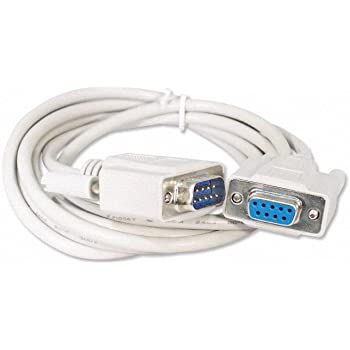 DTECH DB9 to DB9 RS232 Serial Cable 10Feet 3M Male to Male Extension Null Modem Cord Cross line for Data Communication