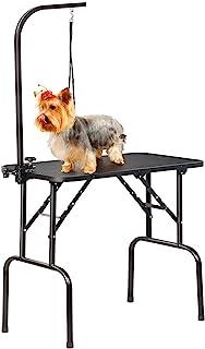 Yaheetech Mesa Plegable de Aseo Mesa para Perros Mascota Mesita de Baño Peluquería con Brazo