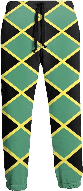Mens Jogger Sweatpants Jamaica Flag Lightweight Workout Athletic Joggers Pants Trousers