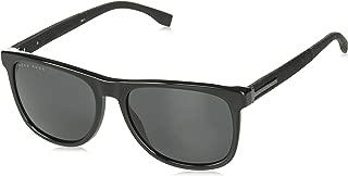 BOSS by Hugo Boss Men's Boss 0983/s Square Sunglasses, Black, 56 mm