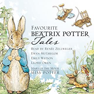 Favourite Beatrix Potter Tales     Read by Stars of the Movie Miss Potter              By:                                                                                                                                 Beatrix Potter                               Narrated by:                                                                                                                                 Emily Watson,                                                                                        Ewan McGregor,                                                                                        Lloyd Owen,                   and others                 Length: 35 mins     19 ratings     Overall 4.5
