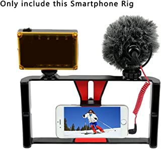 Smartphone Video Rig,SH SHIHONG Phone Movies Mount Handle Grip Stabilizer for Video Maker Filmmaker Videographer,Filmmaking Recording Vlogging Rig Case for iPhone Xs Max XR X 8 7 Plus