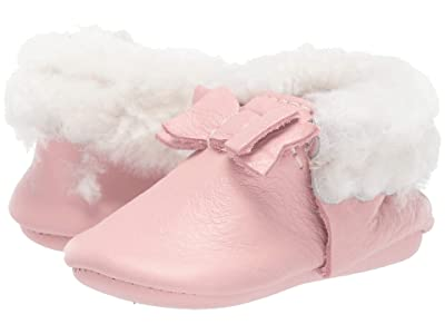 Freshly Picked Blush Shearling Bow Mocc (Infant/Toddler) (Blush) Girl